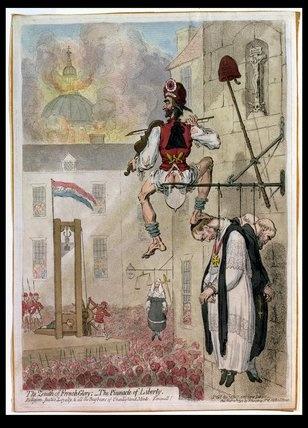 1st blog post-the pinnacle of liberty by James Gillray, 1793.