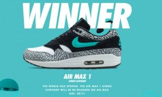"""The atmos x Nike Air Max 1 """"Elephant"""" Re-Releases On Air Max Day 2017 
