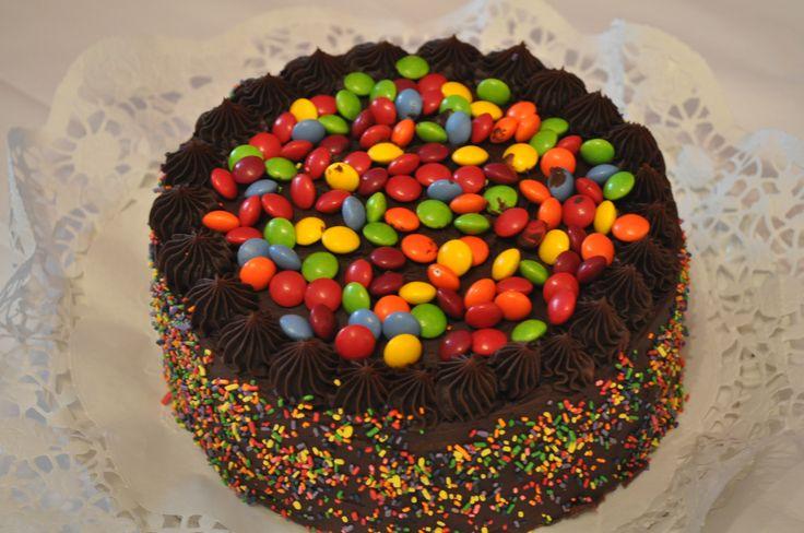 #Darkchocolaterainbowcake
