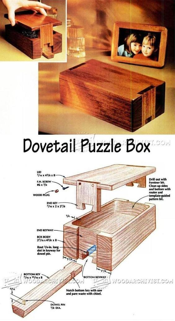 Puzzle Box Plans - Woodworking Plans and Projects   WoodArchivist.com