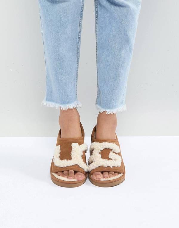 c0237dcf1 UGG Slide Chestnut Slippers   S H O E S .   Uggs, Ugg shoes, Ugg ...