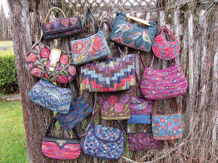 Sisterhood of the Swinging Handbags | Rug Hooking Magazine