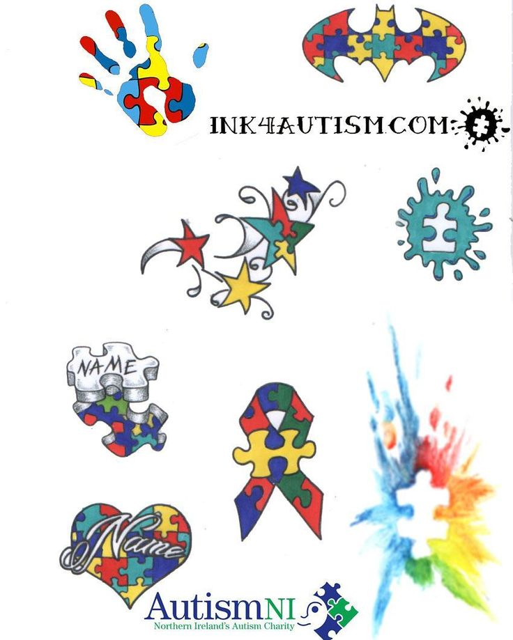 And here are some designs for Autism Awareness month. Just a selection if you want anything else done come in and have a chat. #autismawareness #autism  #ink4autism
