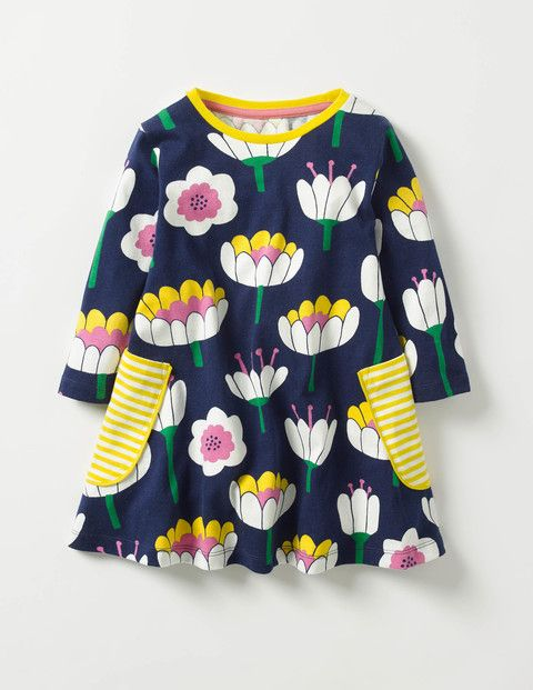 Printed Tunic (School Navy Lily)
