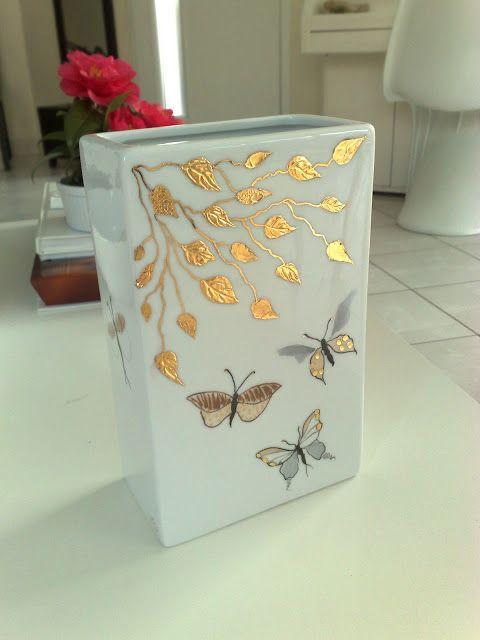 Passion, peinture et porcelaine: Des techniques modernes pour ce vase