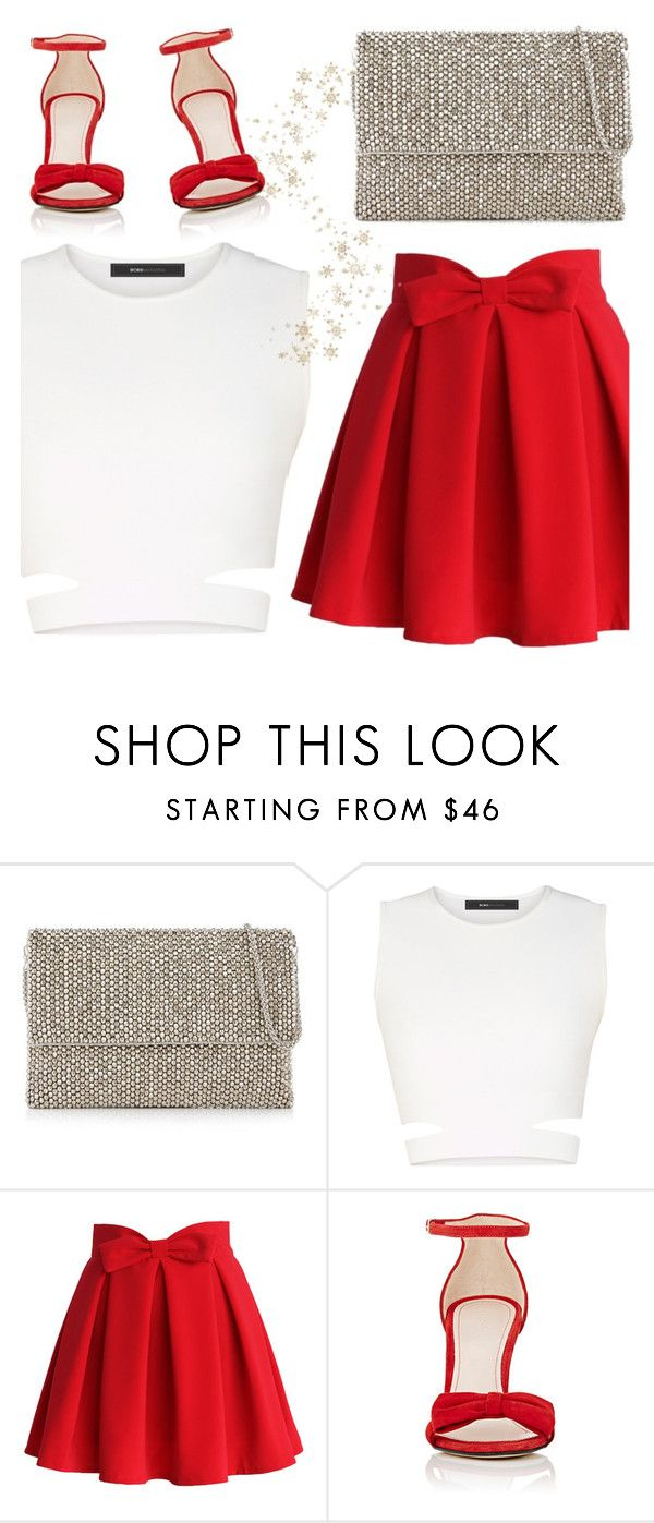 """""""Party Prep"""" by cb-hula ❤ liked on Polyvore featuring Reiss, BCBGMAXAZRIA, Chicwish, Barneys New York, red, skirt, Clutch, party and christmas2016"""