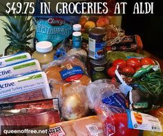 WOW! $49.75 in Groceries at ALDI can make 7 dinners for a family of four. Check out the full meal plan, grocery list, and more here.