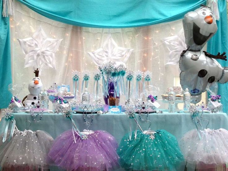 2014 halloween frozen party table disney snowflake diy decors - Frozen Halloween Decorations