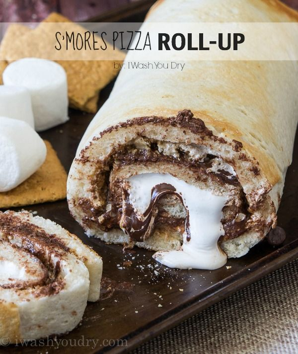 S'mores Pizza Roll-Up - I Wash You Dry