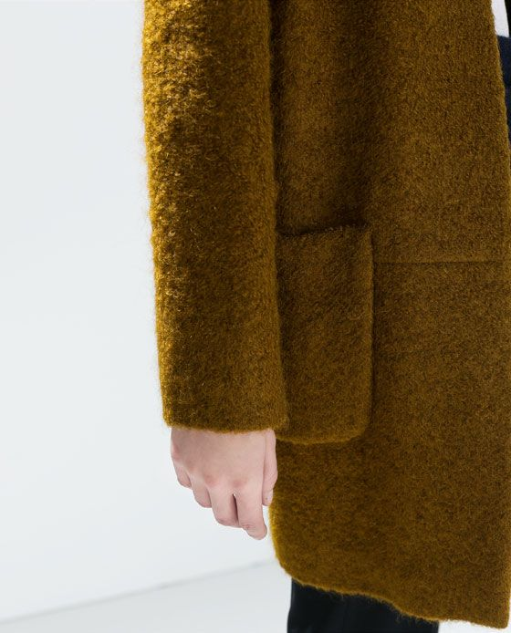 Image 6 of MOHAIR COAT WITH POCKETS from Zara
