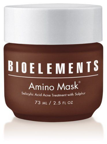 Bioelements Amino Mask, 2.5-Ounce by Bioelements. $45.51. Helps heal existing blemishes. Controls excess oils. Unclogs pores. Destroys acne bacteria. A highly active treatment mask power-packed with sulphur and salicyclic acid. Unclogs pores, destroys acne bacteria, controls excess oil and helps heal existing blemishes.