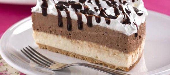 Cheesecake Bicolor com Marshmallow.