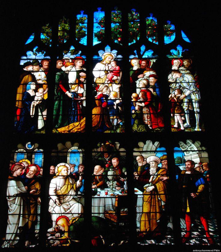 Igreja de São Pedro e São Paulo, Lavenham, Suffolk, Inglaterra.
