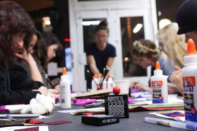 POP-UP BRITEX: Geana Sieburger teaching Warp x Weft: textile 101 at Workshop SF