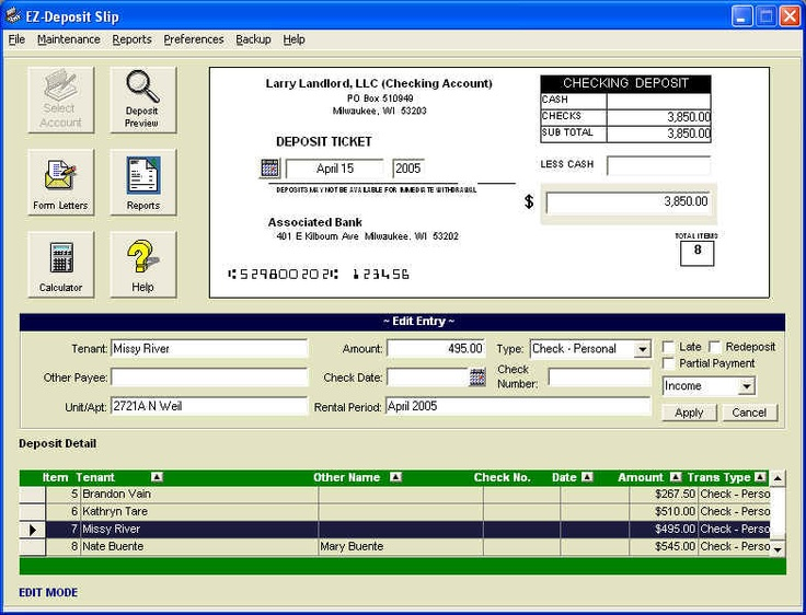 Create professional bank deposit slips with your PC plain paper - payment slips