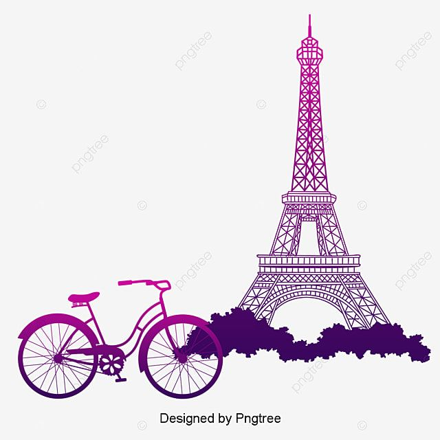 The Pink Tower Under The Bike Vector Tower Clipart Clipart Bike Flower Baskets Png Transparent Clipart Image And Psd File For Free Download In 2021 Tower Eiffel Tower Eiffel
