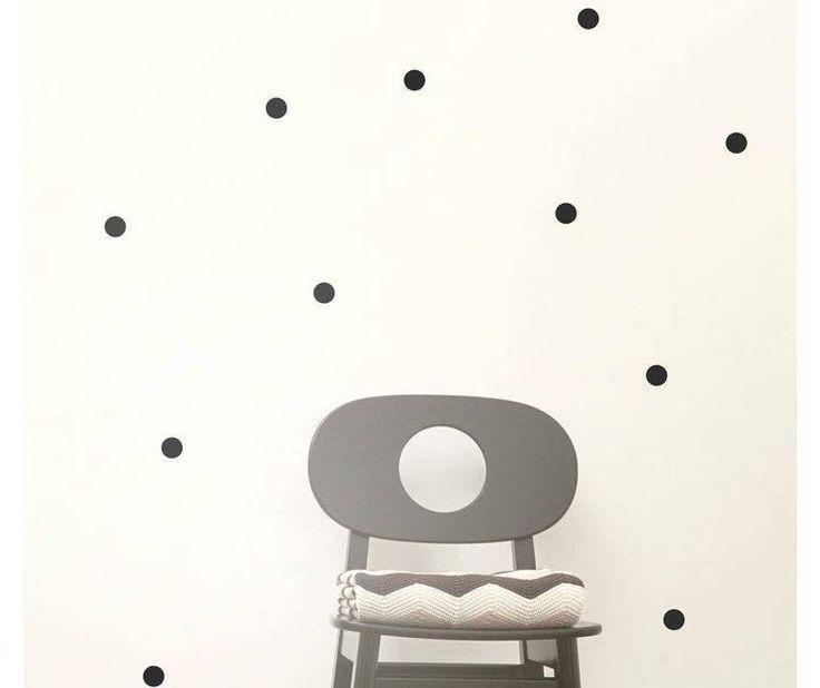 ferm LIVING ferm LIVING Muursticker mini dots zwart