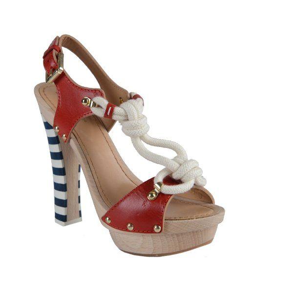 dsquared s leather platform slingback sandals heels
