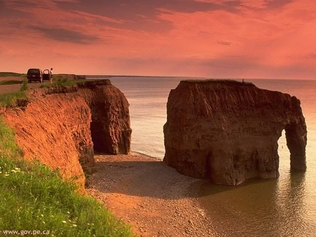 Elephant Rock, Prince Edward Island...too bad it's gone now...storms have eroded the 'trunk' away