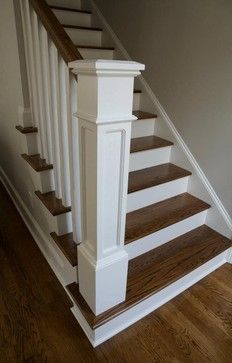 Newel Post Design Ideas, Pictures, Remodel, and Decor - page 23