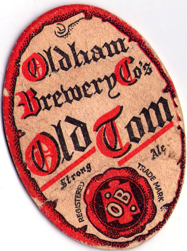 British Beer, beermats Oldham Brewery, Old Tom Strong Ale