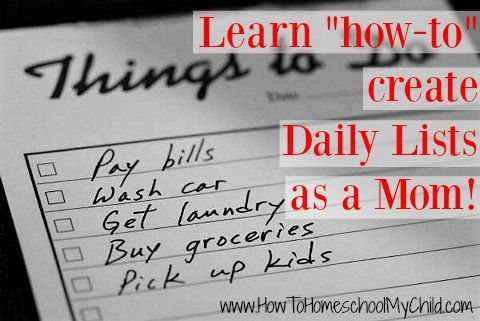 Everyday will give you the opportunity to fulfill a certain goal giving you the feeling of accomplishment... Learn more at www.HowToHomeschoolMyChild.com