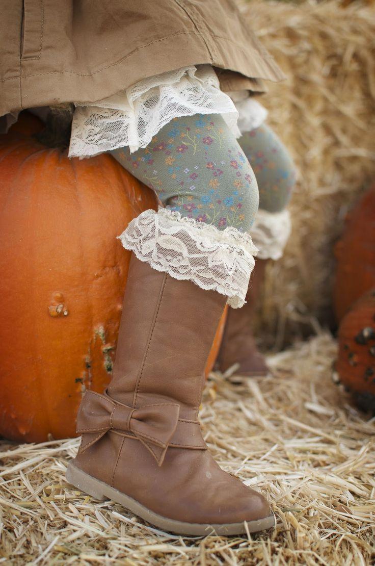 DIY little girl boot socks