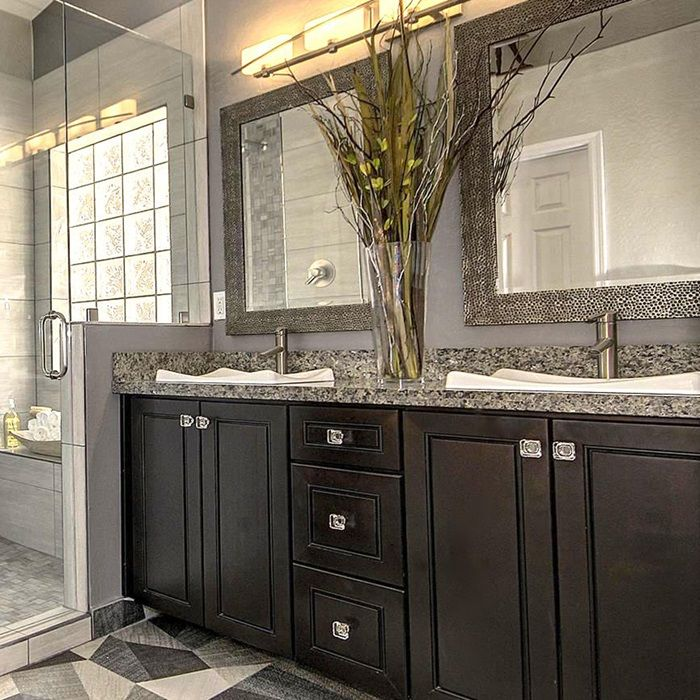 Grey Backsplash, Grey Granite Countertops And