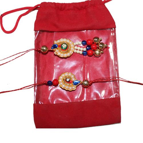 on the occaision by this beautiful rakhi@handicrunch