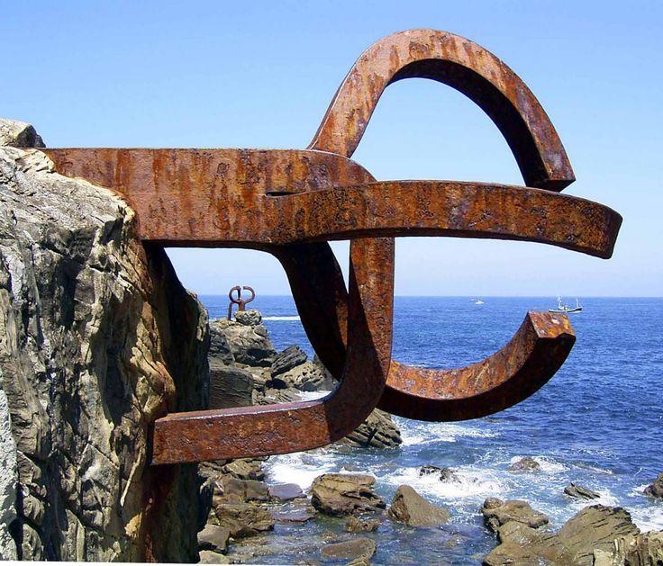 el peine del viento ~ eduardo chillida sculptor | luis peña