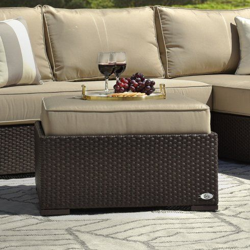 Laguna Outdoor Ottoman with Cushion