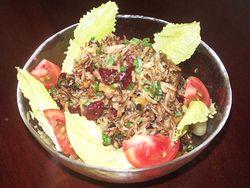 アメリカ大使公邸シェフのワイルドライス・サラダ - アメリカ食材レシピ|myfood.jp アメリカの農産物・食材・食文化の情報提供サイト