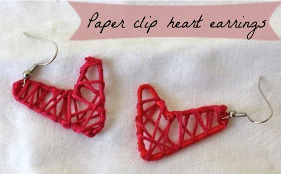 DIY Paper Clip Heart Earrings – #DIY Valentines Day Ideas