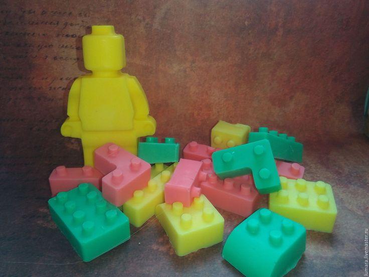 Купить Мыльное лего! - lego, лего, мыло, мыло ручной работы, мыло для детей, мята