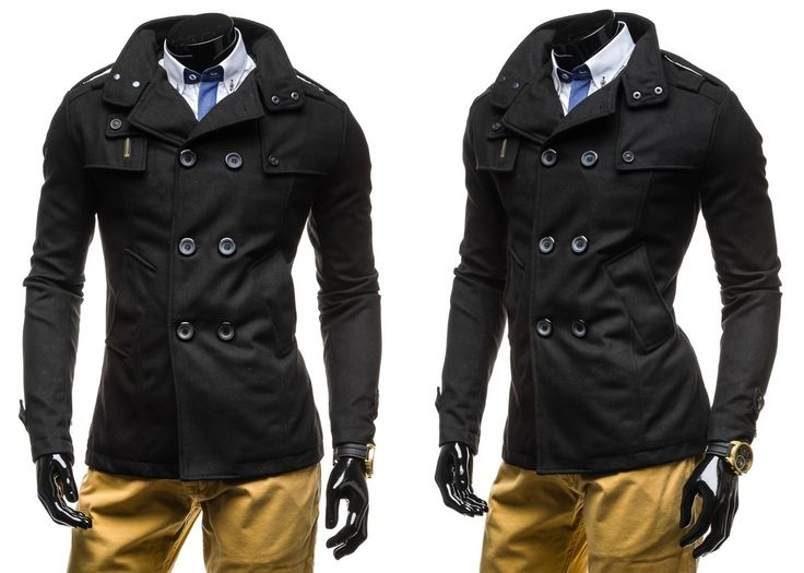 CENTURY EX903 - CZARNY CZARNY | On \ Płaszcze męskie \ Płaszcze ocieplane | Denley - Odzieżowy Sklep internetowy | Odzież | Ubrania | Płaszcze | Kurtki