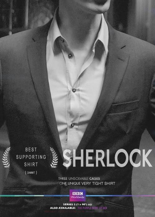BBC Sherlock, Benedict Cumberbatch best supporting shirt image