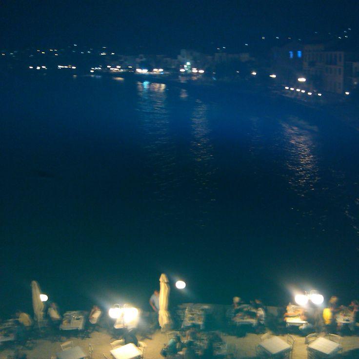 Myrina, Romeikos Gialos by night, LIMNOS ISLAND GREECE Photo by Electra Koutouki 2014