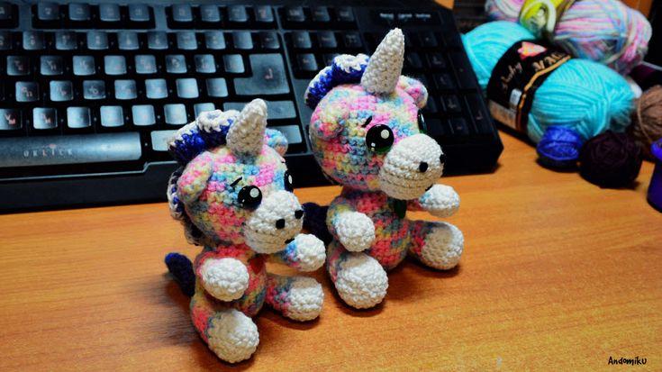 Амигуруми единорог | лошадка единорог | пони | игрушка единорог | Andomiku