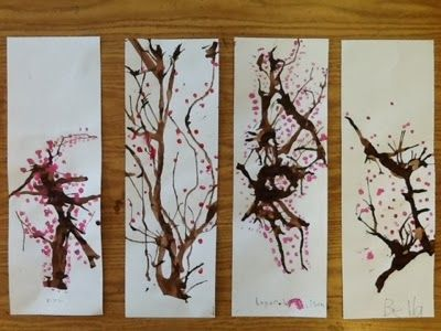 Waitsfield Elementary Art: Plum Blossoms for the Chinese New Year