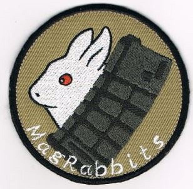 Mag Rabbits Team patch   【Standard size】 9cm Double Heavy Twill Heat Cut  Velcro specification   【Contents】 It is a  combination of cute rabbit and magazine with a patch of the Sabbage team.  In order