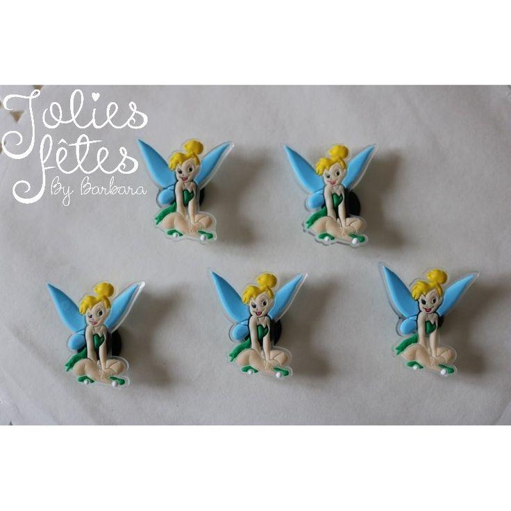Lot de figurines fée clochette pour créer vous-même un ballotin thème fée clochette. Figurine fée clochette pour baptême et anniversaire fée clochette