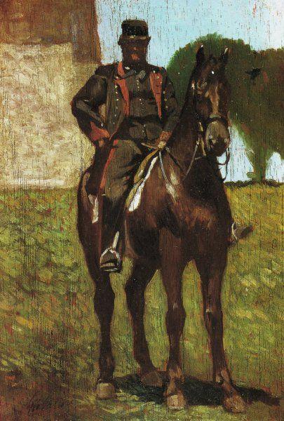 Giovanni Fattori 'Guardacaccia', 1870