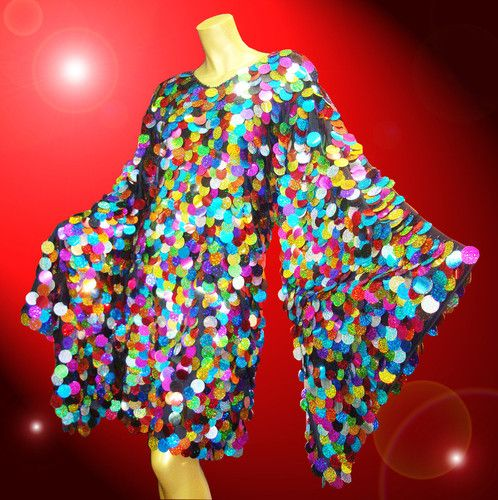 Multi Color Sequin Samba Latin Salsa Dance Dress Showgirl Drag Queen Costume | eBay