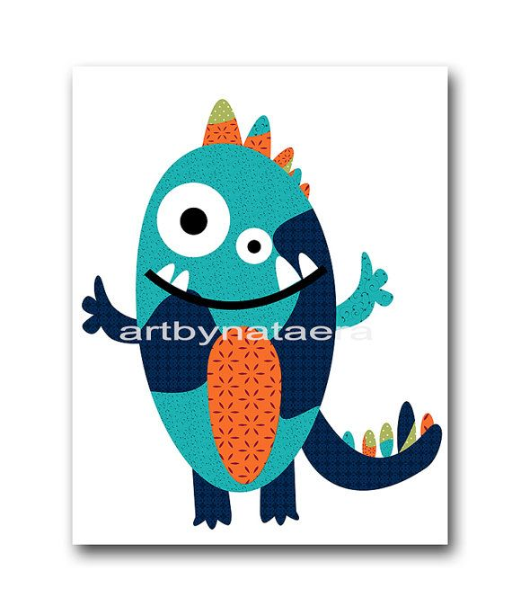 Monster Nursery Art Baby Nursery Decor by nataeradownload on Etsy