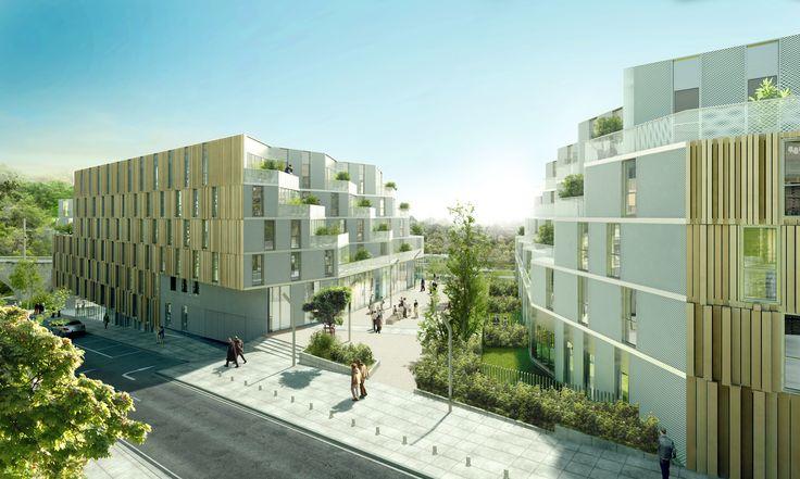 Résidence étudiante, logements et atelier d'artistes, Meudon (92) - Atelier du pont