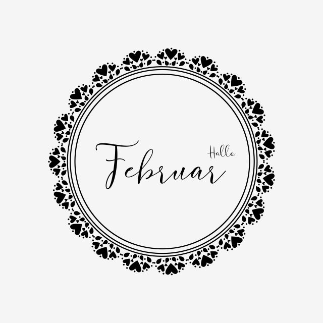 Hello February In Allemand Bullet Journal Clipart Vector Png Element Cute Design Calendar New Year Png And Vector With Transparent Background For Free Downlo Design Calendar Clip Art Hello Font