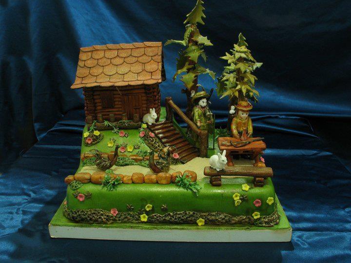 log cabin cake ideas
