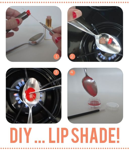 tired of a certain lipstick shade? don't throw it out-- mix it up!