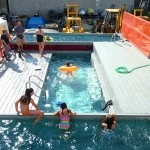 A shipping container swimming pool!! To go with my future shipping container cottage @Brent LayboltIdeas, Swimming Pools, Container House, Pools Parties, Water Parks, Shipping Containers, Shipping Container Pool, Homesteads Survival, Ships Container Pools