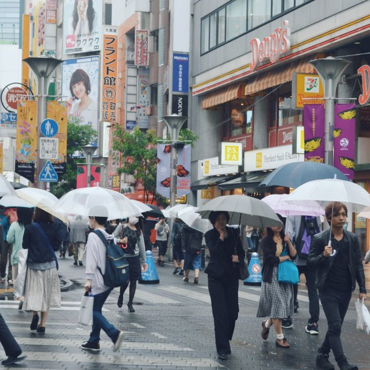 marching forward despite the weather. #tokyo #ikebukuro